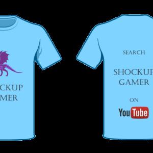 shockup gamer T-shirt Dragon 1 blue