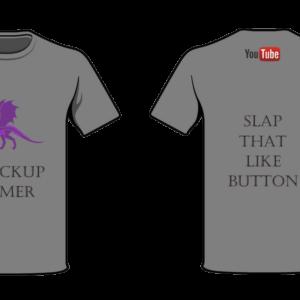shockup gamer T-shirt Dragon 2 Grey